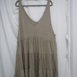 Acacia Swimwear L NWT Havana Tiered Dress Cement